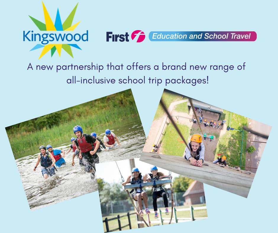 School trip packages - showing children taking part in outdoor activity
